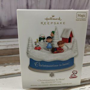 Hallmark christmastime is here peanuts gang xmas o